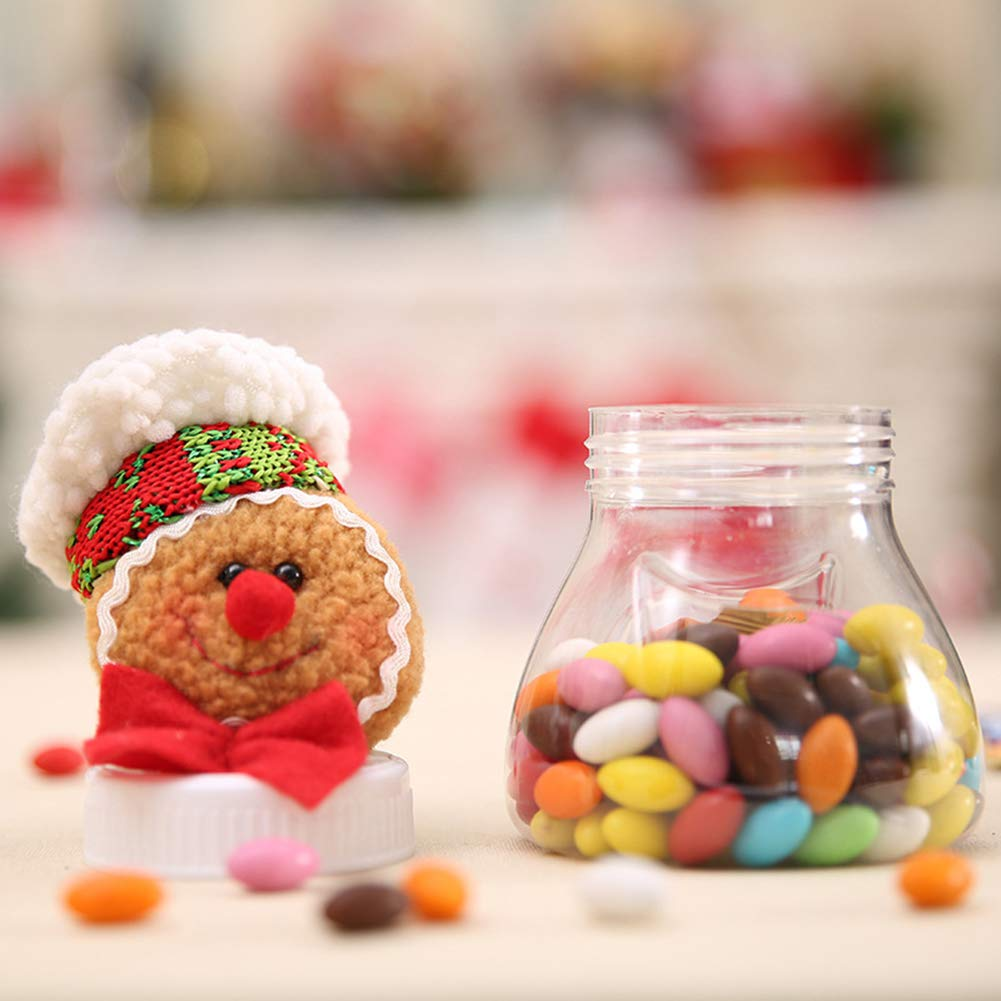 HEART SPEAKER Christmas Snowman Santa Reindeer Candy Box Jar Biscuit Sweetie Container Party Decor 5# by HEART SPEAKER (Image #8)