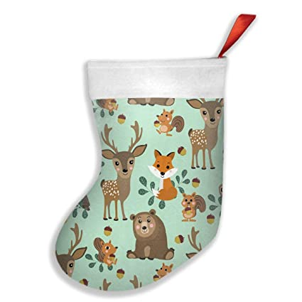 FQWEDY Wildlife Character Seamless Pattern. Fashion Unique Christmas  Stockings Personalized Gift Socks Christmas Socks For