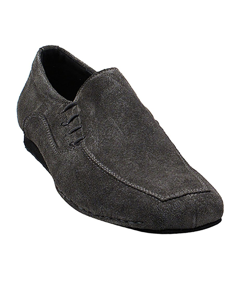 Very Fine Ballroom Latin Tango Salsa Dance Shoes for Men SERO102BBX Suede - Flate Heel - Grey Suede - 12.5