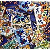Broken Mexican Talavera Tiles Handmade Mix Designs 10 pounds