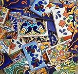 Color y Tradicion Broken Mexican Talavera Tiles Handmade Mix Designs 10 Pounds