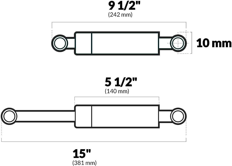 "New Springlift Ni-slide Gas Springs attwood Marine Sl33-60-5 15/"" Extended 9.5/"" C"