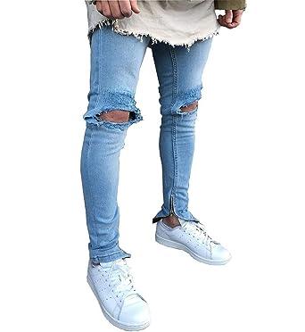 Pantalones Vaqueros De Los Hombres Jeans Ssig Azul Skinny ...