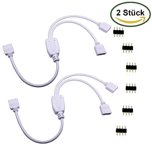 39 opinioni per LitaElek 2 Pack 4 Pin cavo splitter per uno o due LED di colore RGB che cambia