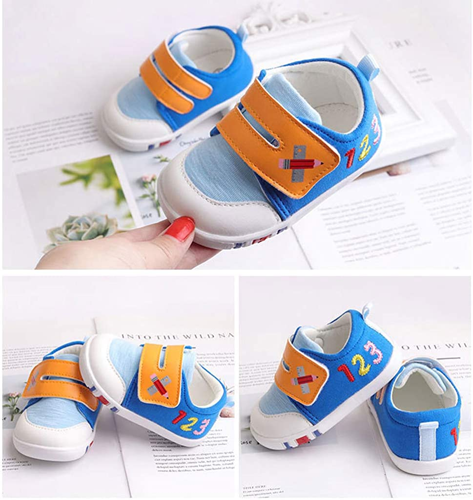 Baby Shoes Canvas Rubber Sole Breathable Outdoor Sneakers for Boys Girls Walking Toddler Shoes 9-24months