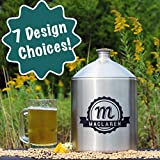 Personalized Etched Stainless Steel 5L Mini Keg Growler