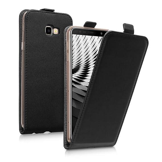 separation shoes f74ec a63ad Amazon.com: kwmobile Vertical Flip Case for Samsung Galaxy J4+ / J4 ...