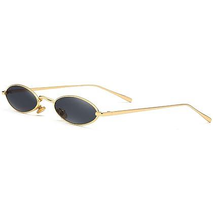 da24322e6141 Gobiger Rectangle Small Frame Sunglasses Fashion Designer Square Shades for  women (Gold