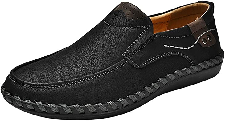 Sayla Zapatos Zapatillas para Hombres Casual Moda Verano Running Tallas Grandes Zapatos De Cuero Sin Cordones CóModos Mocasines Zapatos Genuino ResbalóN En Los Holgazanes: Amazon.es: Zapatos y complementos