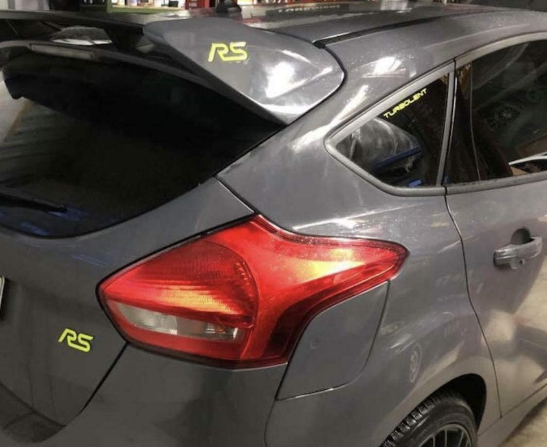Wei/ß Focus RS MK3 Gel-Embleme Inlay Front+Heck freie Farbwahl