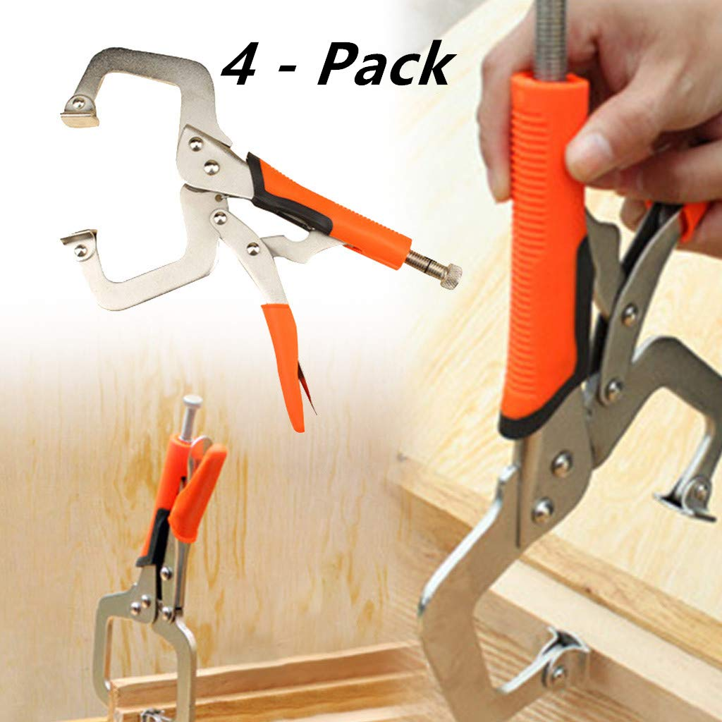 [4 - Pack] Face Clamp Woodworking Fit Tool,For Woodworking, Pocket Hole, Joinery Welding and More by Efaster