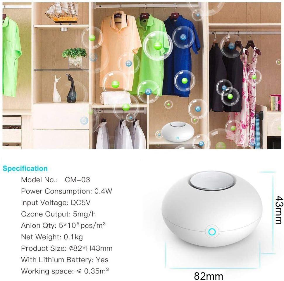 Mini g/én/érateur dozone,ozone generateur purificateur dair portatif USB pour d/ésodorisant maison//voiture//toilette//r/éfrig/érateur