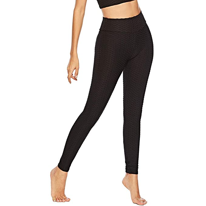 d446e3615a308 Image Unavailable. Image not available for. Color: Women's Workout Leggings  High Waist Yoga Tummy Control Booty Pants Running Butt Lift Tights Plus Size