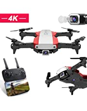 Folding drone 2.4G 4K WIFI GPS one-button-return professional aerial photography real-time transmission remote control four-axis aircraft Amazon membership daily action