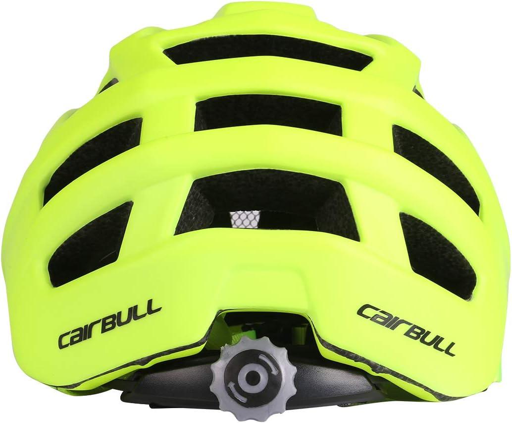 Ajustable 55-61 cm con Visera Unisex Adulto Cairbull Aerodin/ámica Casco de Bicicletta
