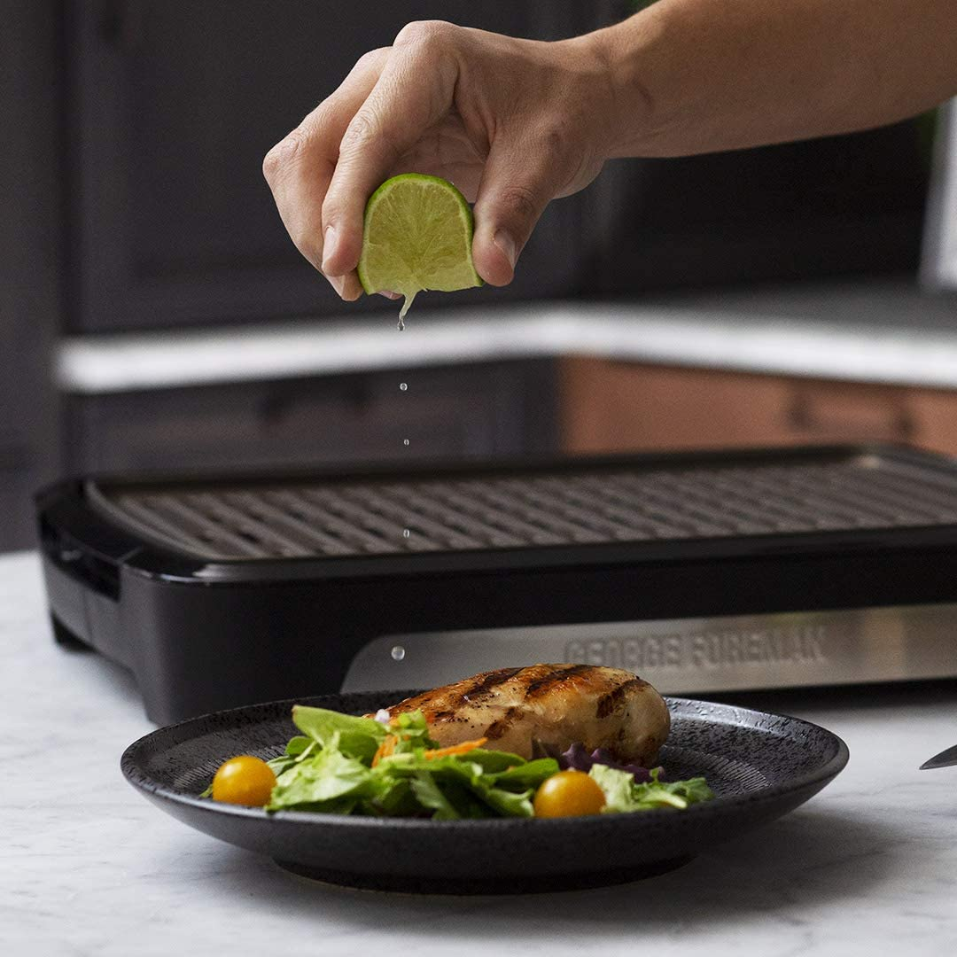 George Foreman 25850-56 Barbecue Grill Smokeless Indoor Outdoor Removable Plates