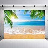 7x5ft Beach Photo Backdrops Vinyl Sea Blue Sky Photography Background Studio Props Party Banner for Decoration
