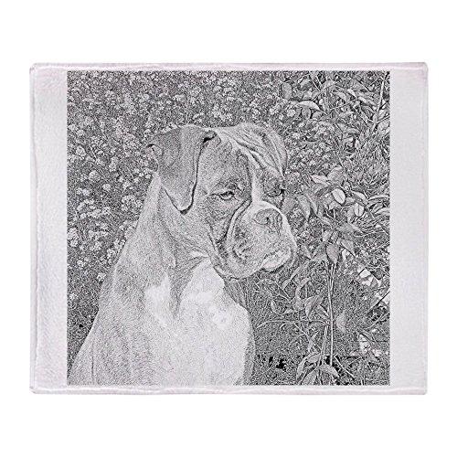 "CafePress Boxer Portrait Soft Fleece Throw Blanket, 50""x60"""