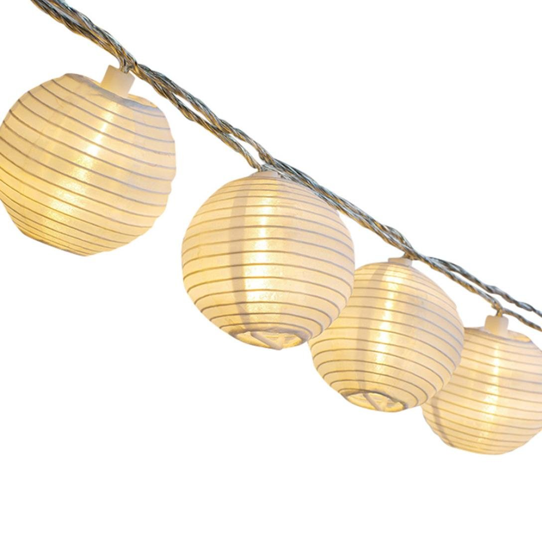 SUJING Fairy String Lights Lantern String Lights Christmas Globe Lights For Patio Yard Garden Party Decorative Lighting