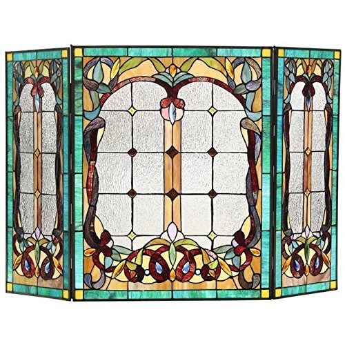 Chloe Lighting Victorian 3pcs 44x28 Lucian Tiffany-Style Fol