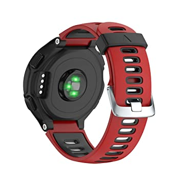 NotoCity Bracelet de Remplacement Compatible Garmin Forerunner Montre Fitness Tracker Silicone Souple Bracelet de Sport Compatible