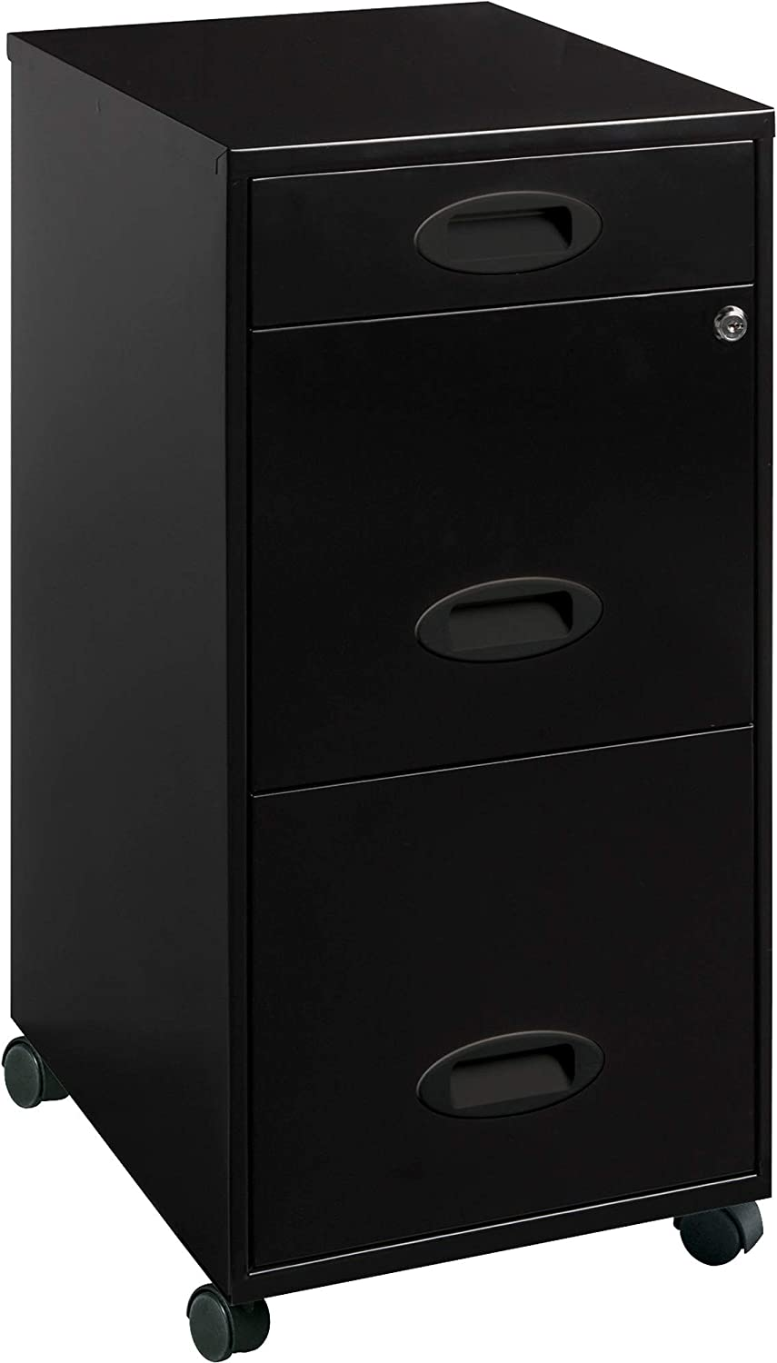 Lorell LLR17427 SOHO Mobile Cabinet, Black : Office Products