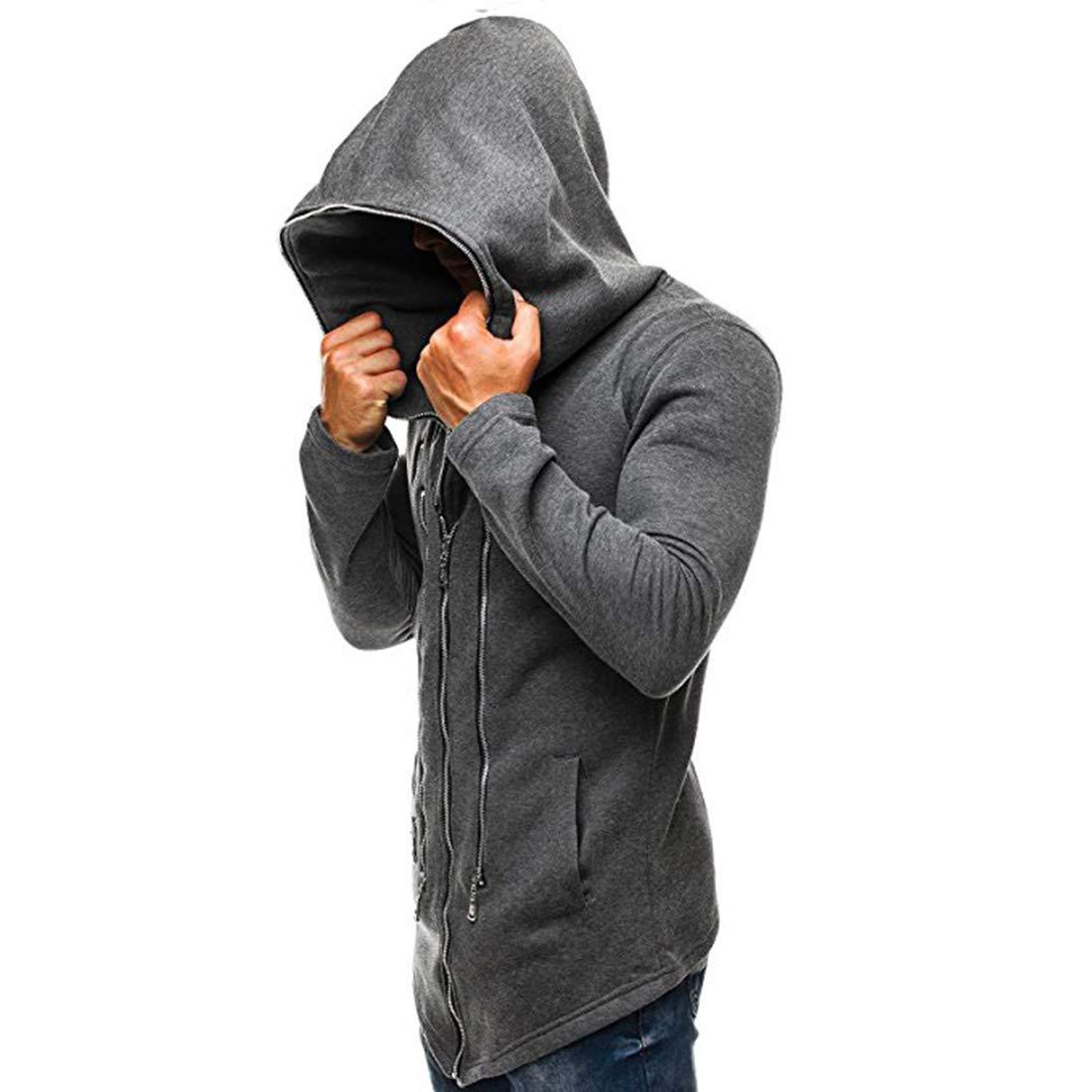 Sudadera con Capucha para Hombre, suéter Capa Oscura Traje ...