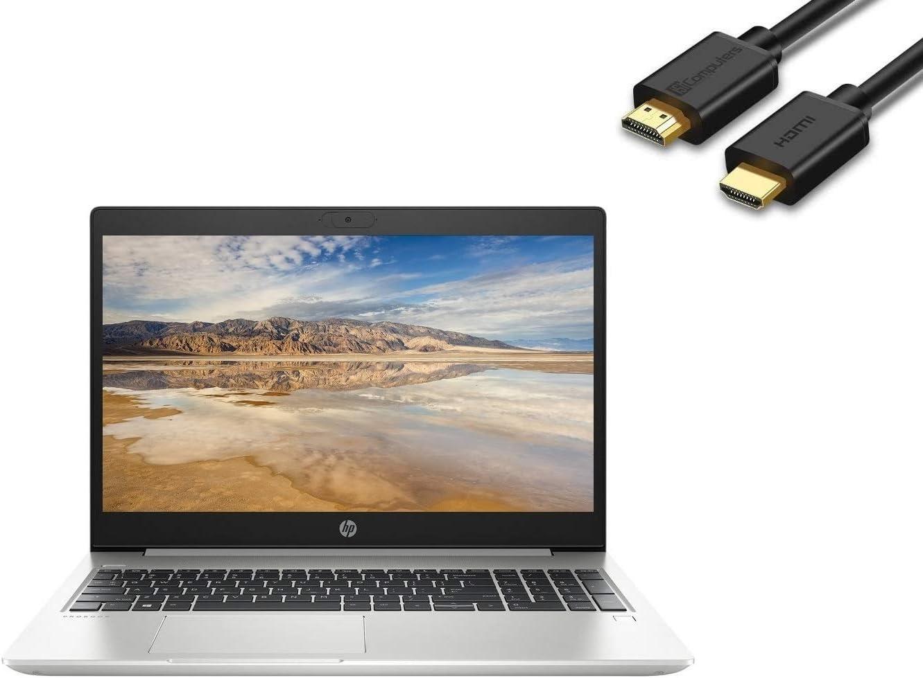 "2020 HP ProBook 450 G7 15.6"" FHD Full HD 1080p Anti-Glare Business Laptop (Intel Quad-Core i5-10210U, 16GB DDR4 RAM, 512GB PCIe SSD) Backlit, Type-C, RJ-45, Webcam, Windows 10 Pro + IST HDMI Cable"