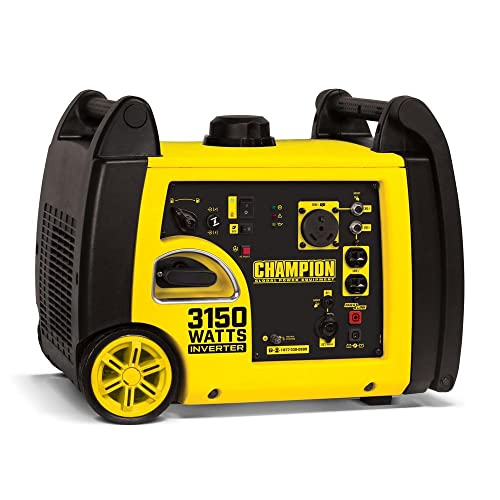 Champion Power Equipment 3150-Watt Gasoline Powered Recoil Start Inverter Generator with Champion 171cc 4-Stroke Engine