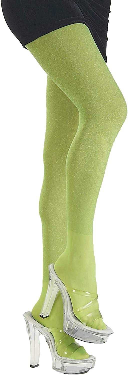 Rubie's Lime Green Glitter Tights Costume Accessory Adult Std. (Single Pack) 6825: Toys & Games