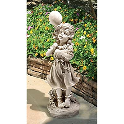 Design Toscano Jessie and Her Balloon Statue : Garden & Outdoor