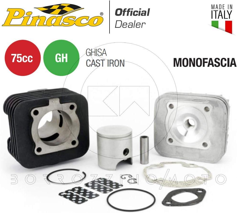 10041408 PINASCOT-FORCE GRUPPO TERMICO MONOFASCIA 75cc RACING IN GHISA /Ø47 MOTORE PIAGGIO AD ARIA Art