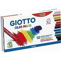 Giz Pastel Oleoso, Giotto, 293000, Olio Maxi, 12 Cores