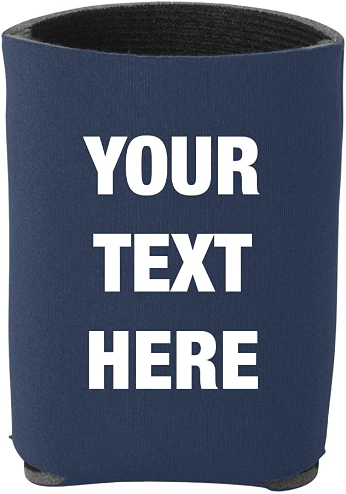 Prnnt 12 Pieces Custom Personalized Insulated Beverage Holder Your Text Here Beer Can Insulators, Coolies for 12 Ounce Cans and Bottles