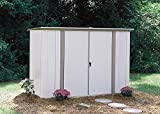 Arrow Pent Roof Garden Shed, Eggshell/Taupe, 8 x 3 ft.
