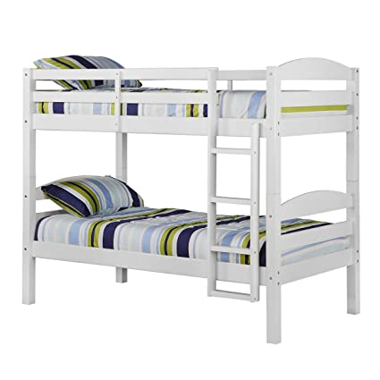 Amazon Com Convertible Twin Twin Solid Wood Construction Bunk Bed