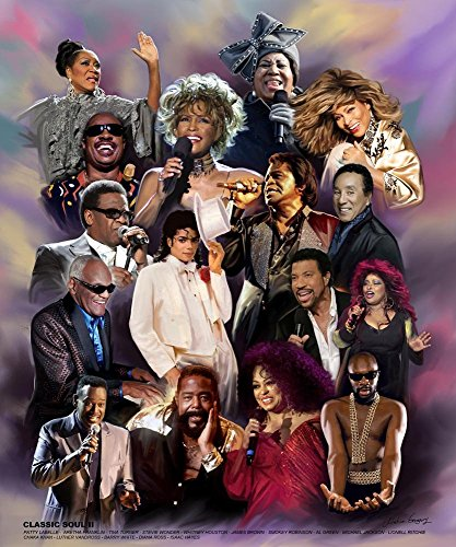 Classic Soul II (Great R&B Singers) by Wishum Gregory (Unframed Art Print - 24x20 inches) (Best Black R&b Singers)
