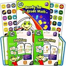 LeapFrog Math Flash Cards and Workbook Set for Grades K-1 (Addition Cards, Subtraction Cards, Workbook, Stickers) (Math Set (Flash Cards w Workbook))
