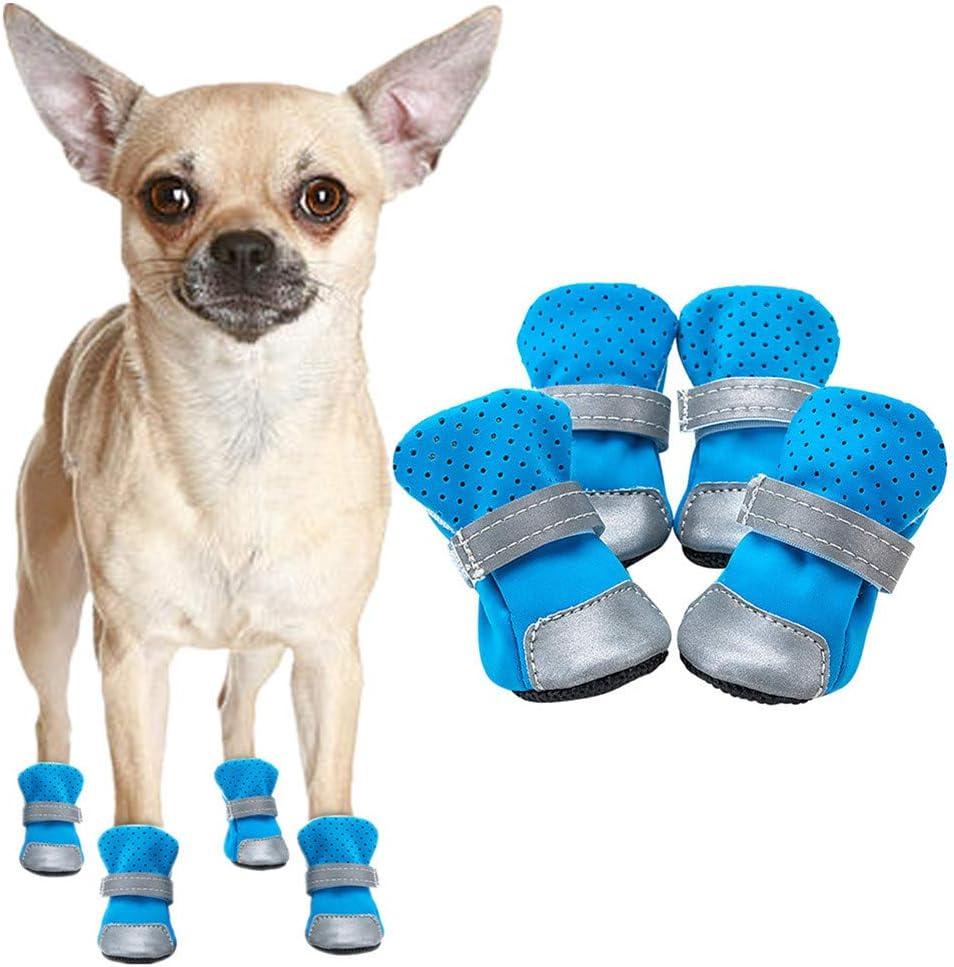 Rysmliuhan Shop Pfotenschutz Hund Hundestiefel Hundeschuhe Rutschfest Hundepfotenschutz Hundeschuhe Für Kleine Hunde Hundesocken Hundeschuhe Blue 2 Küche Haushalt