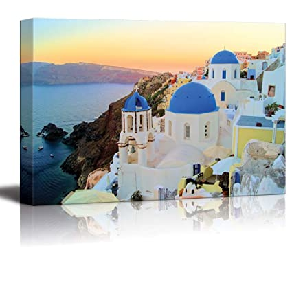 Canvas Prints Wall Art Sunset View Of The Blue Dome
