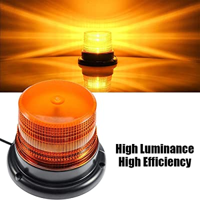 LED Strobe Light, Big Ant Amber 48 LED Warning Lights Safety Flashing Strobe Lights with Magnetic for Most Vehicle Trucks Cars, Law Enforcement Emergency Hazard Beacon Caution Warning Snow Plow: Automotive