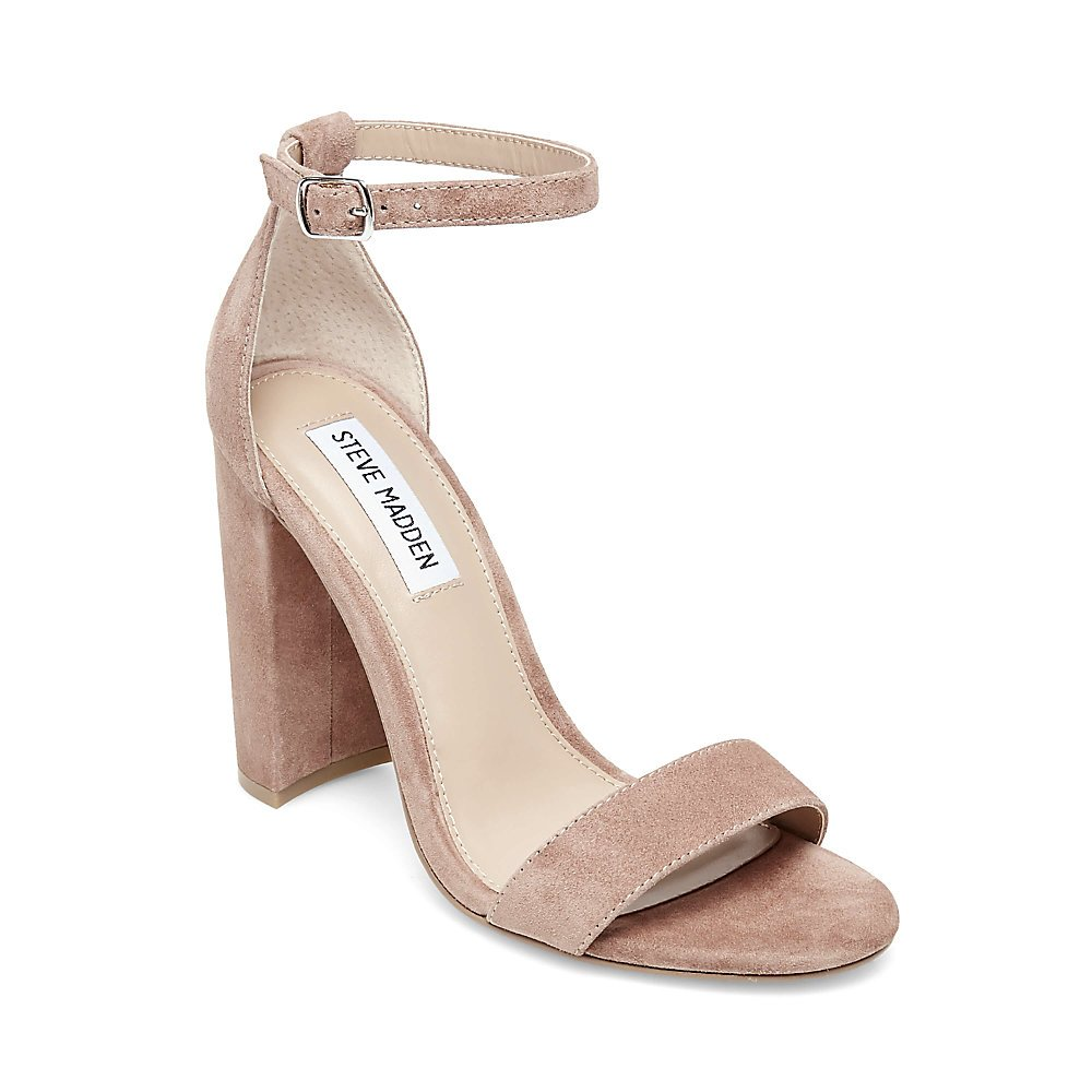 Steve Madden Women's Carrson Dress Sandal B07FPVDWQX 11 B(M) US|Tan Suede