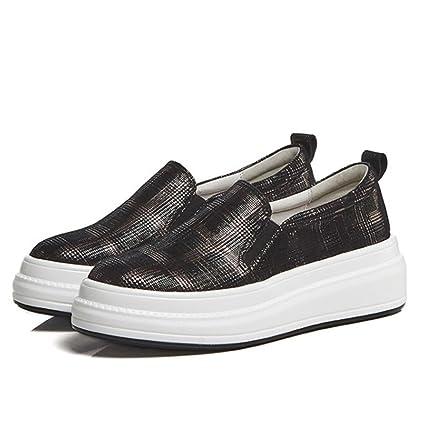 GAOLIXIA Zapatos de Mujer Zapatos Casuales Mocasines Zapatos cómodos de Suela Gruesa con Punta Redonda para