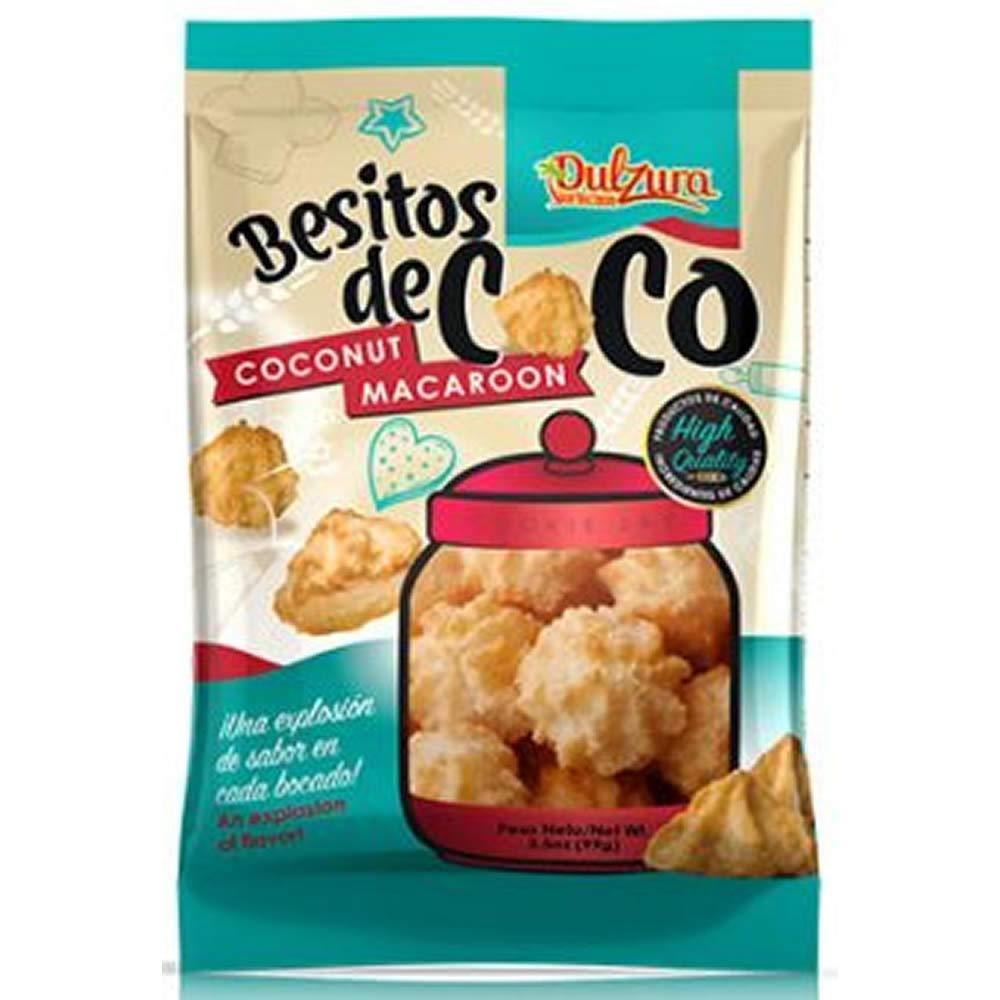 Dulzura Borincana Besitos De Coco (Coconut Macaroon) Net. Wt 3.05 oz