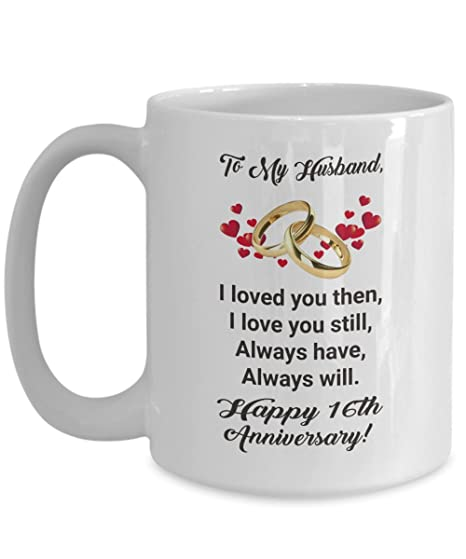 Amazon Happy 16th Anniversary Mug Gift Ideas For Husband Him