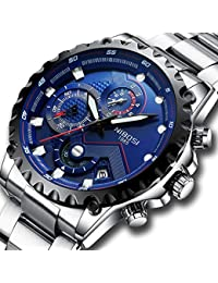 Men's Watches Luxury Sports Chronograph Waterproof...