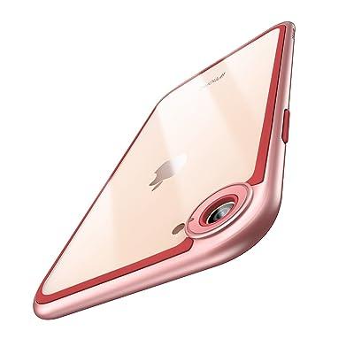 """ESR Funda iPhone 8/Funda 7, Funda Transparente Protectora [Compatible con Carga Inalámbrica] [Protección de Cámara y Bordes] Resistente Rígida con Bumper para iPhone 7/iPhone 8 DE 4,7""""- Oro Ro"""