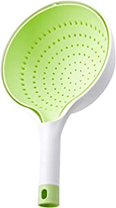 ACAVEROA Double Plastic Drain Basket Handle Double Layer Kitchen Fruit Vegetable Food Washing Strainer Plastic Quick Draining Basket(Green)