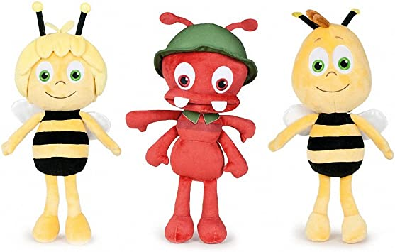 Play by Play Pack DE 3 Peluches LA Abeja Maya Amigo Willie Y LA ...