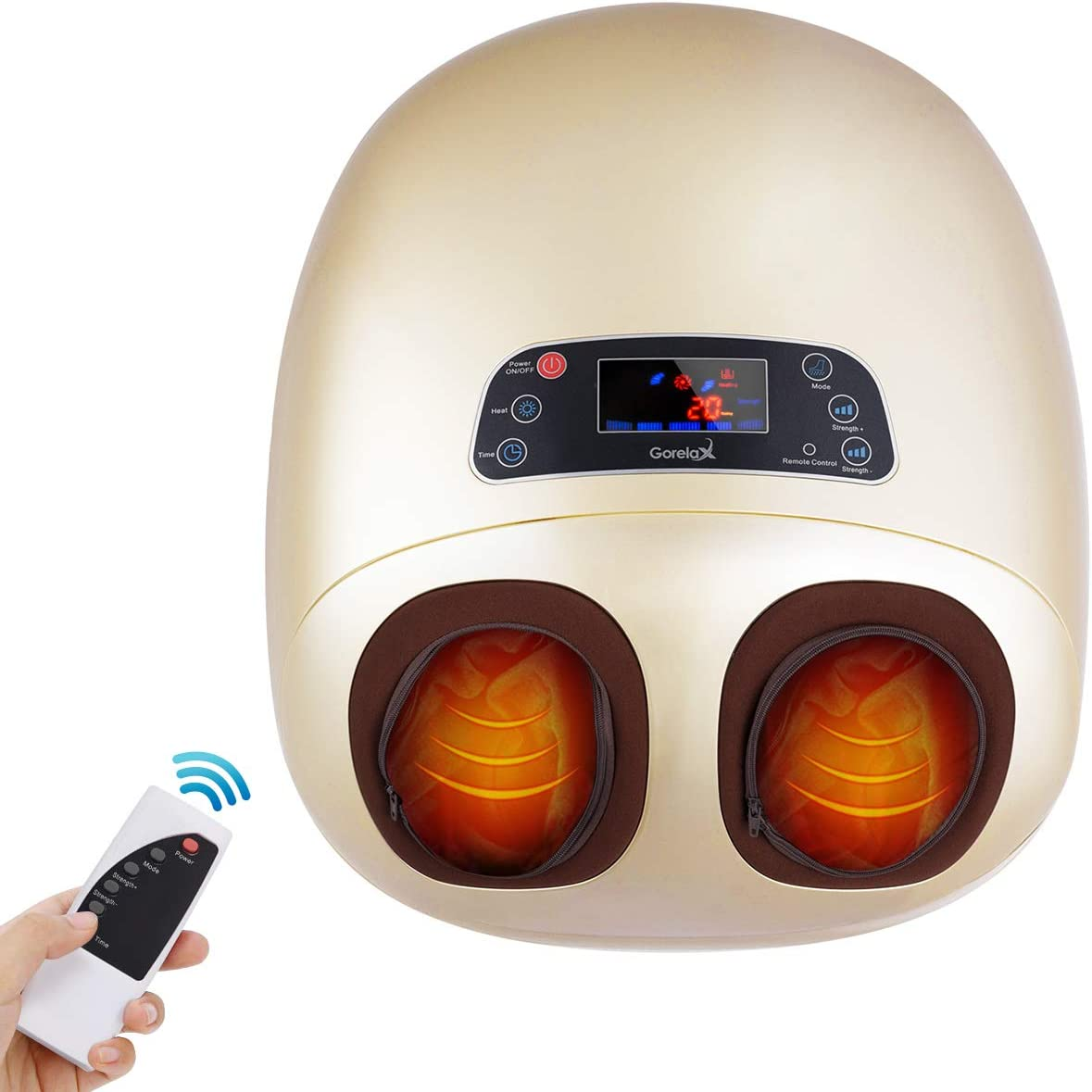 Foot Massager Machine with Heat,Electric Deep Kneading Foot Massage Air Compression for Blood Circulation with Remote Control